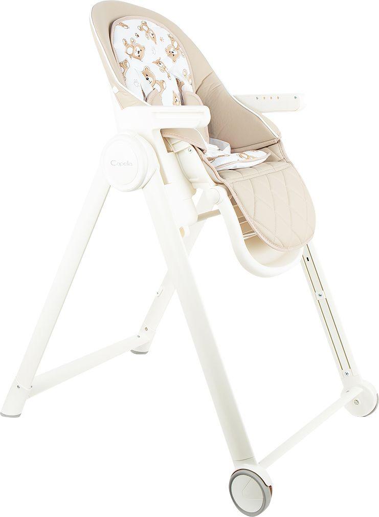 стульчик для кормления capella s 207 зеленый Стульчик для кормления Capella, цвет: бежевый