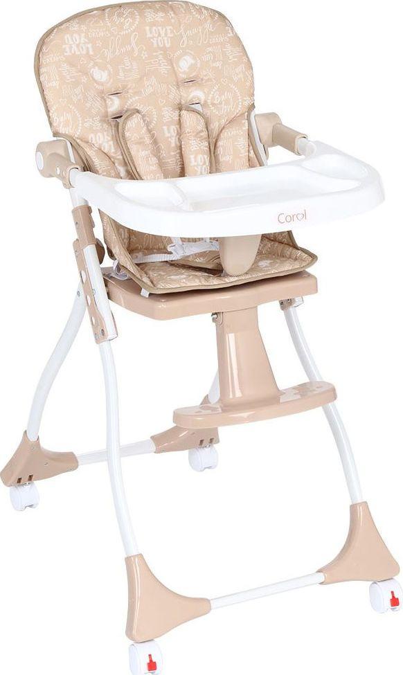 Стульчик для кормления Corol S3, GL000840543, бежевый стульчик для кормления corol жел бежвоздушный шар gl000840494