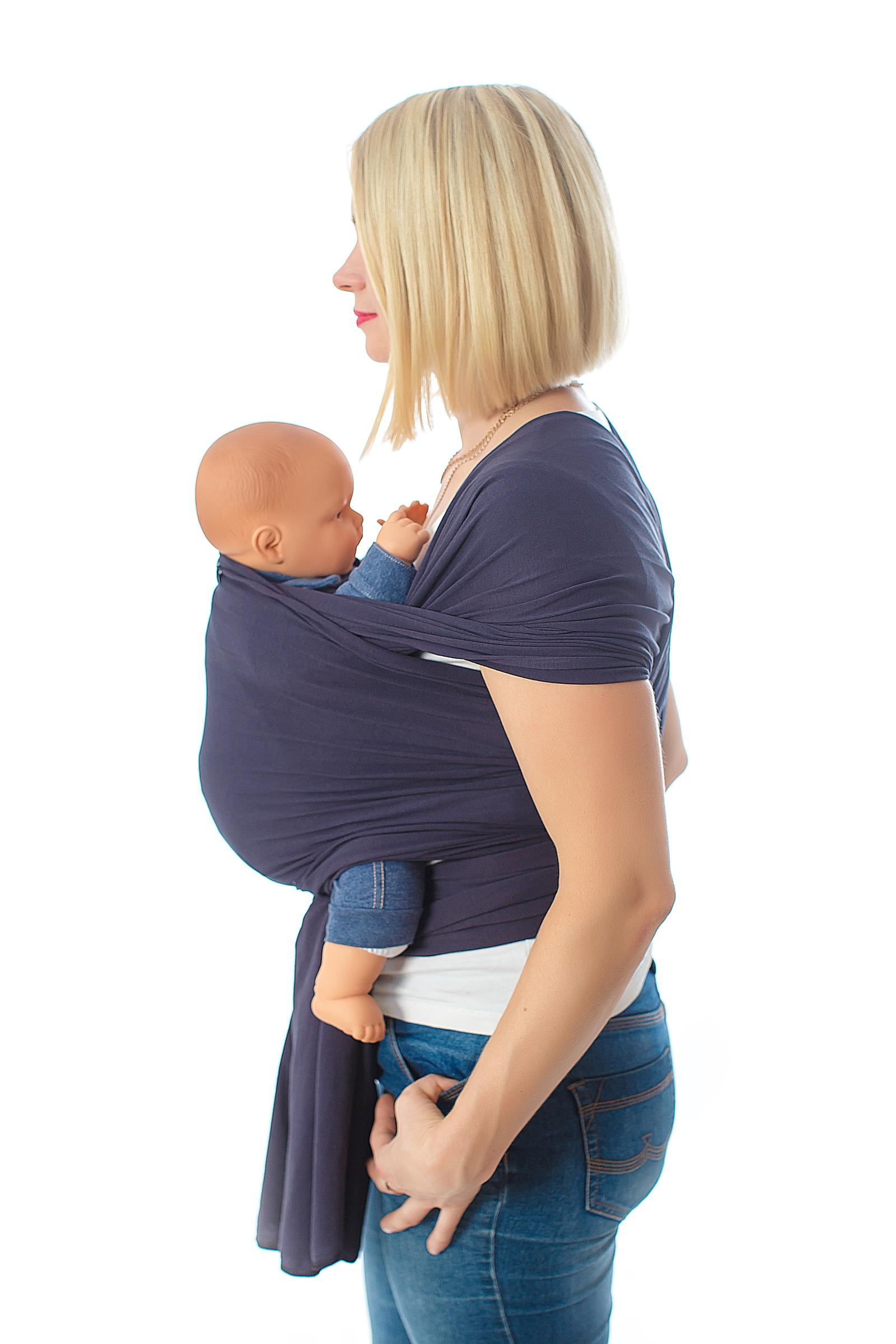 Слинг-шарф SlingMe Графит, 016-002, графитовый016-002Трикотажный слинг – шарф – идеальное решение для новорожденного (малыша до 7 кг) и начинающей слинго-мамы. Мягкое пластичное хлопковое полотно прощает огрехи намотки и в то же время нежно обнимает и несет вашего малыша.