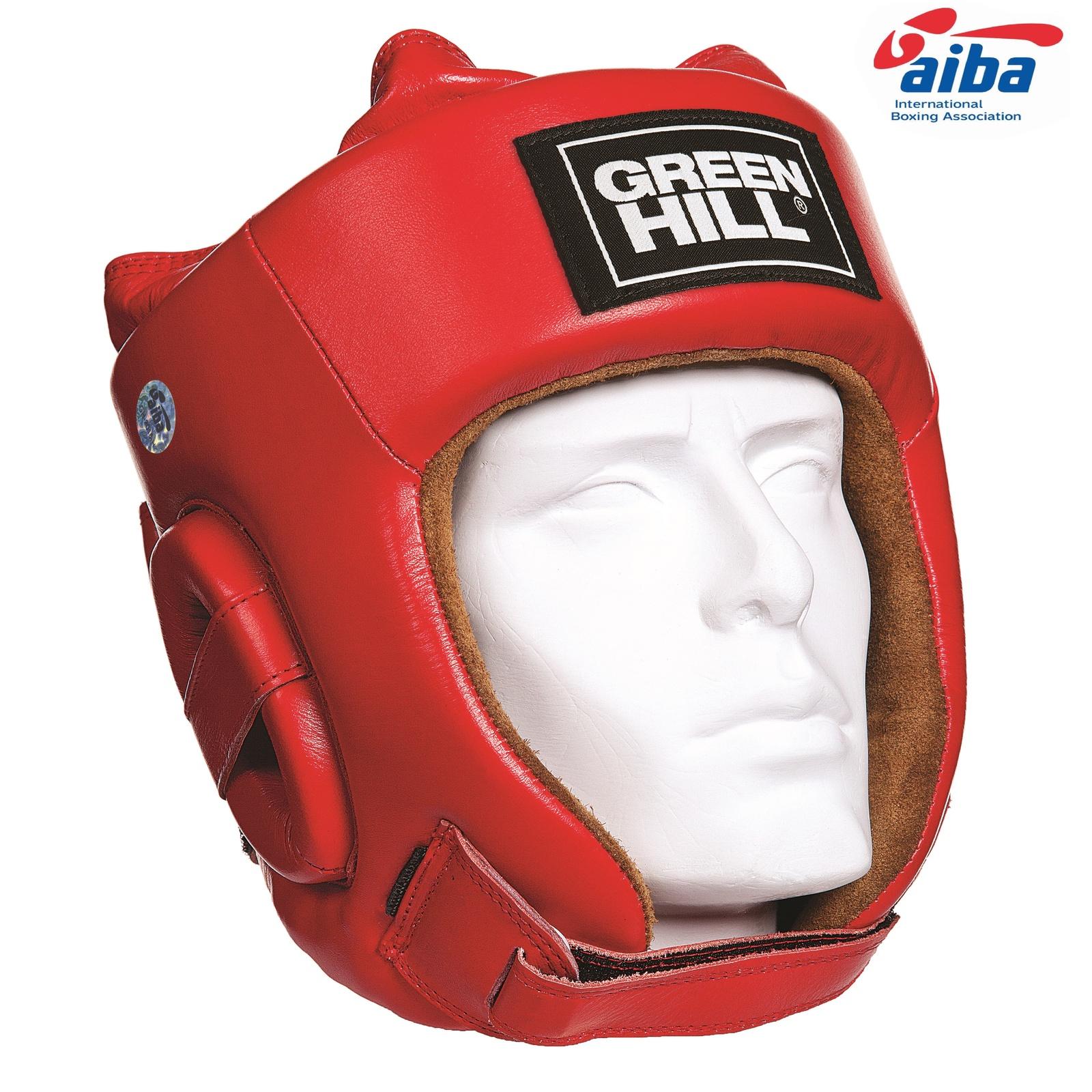 Шлем Green Hill FIVE STAR AIBA, одобренный, цвет:красный, размер L все цены