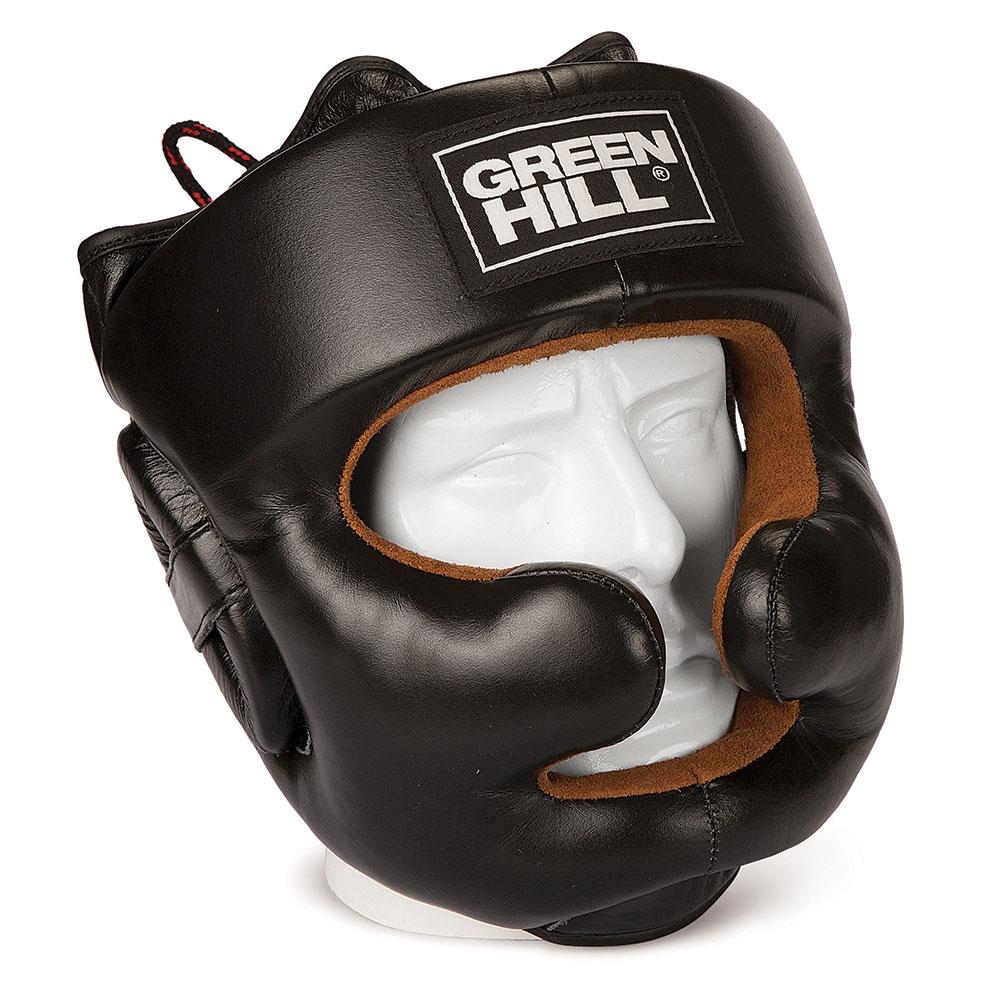 Шлем боксерский Green Hill LUX, HGL-9049_2, черный, размер M шлем melon dotty white матовый xl xxl 58 63 см 160203
