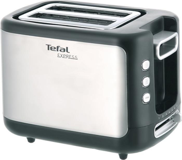 Тостер Tefal TT365031, серебристый, черный