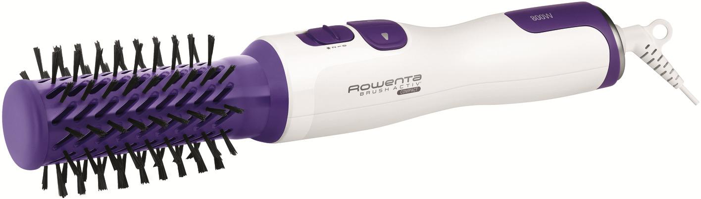 Фен-щетка вращающаяся Rowenta Brush Activ' Compact, White Purple фен щетка rowenta brush activ compact cf9520 вращающаяся 2 насадки cf9520f0