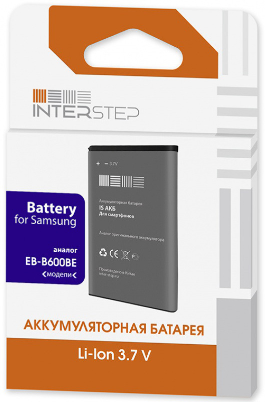 Аккумулятор Interstep для Samsung i8190/ i8160 1500 mAh Li-Ion цена