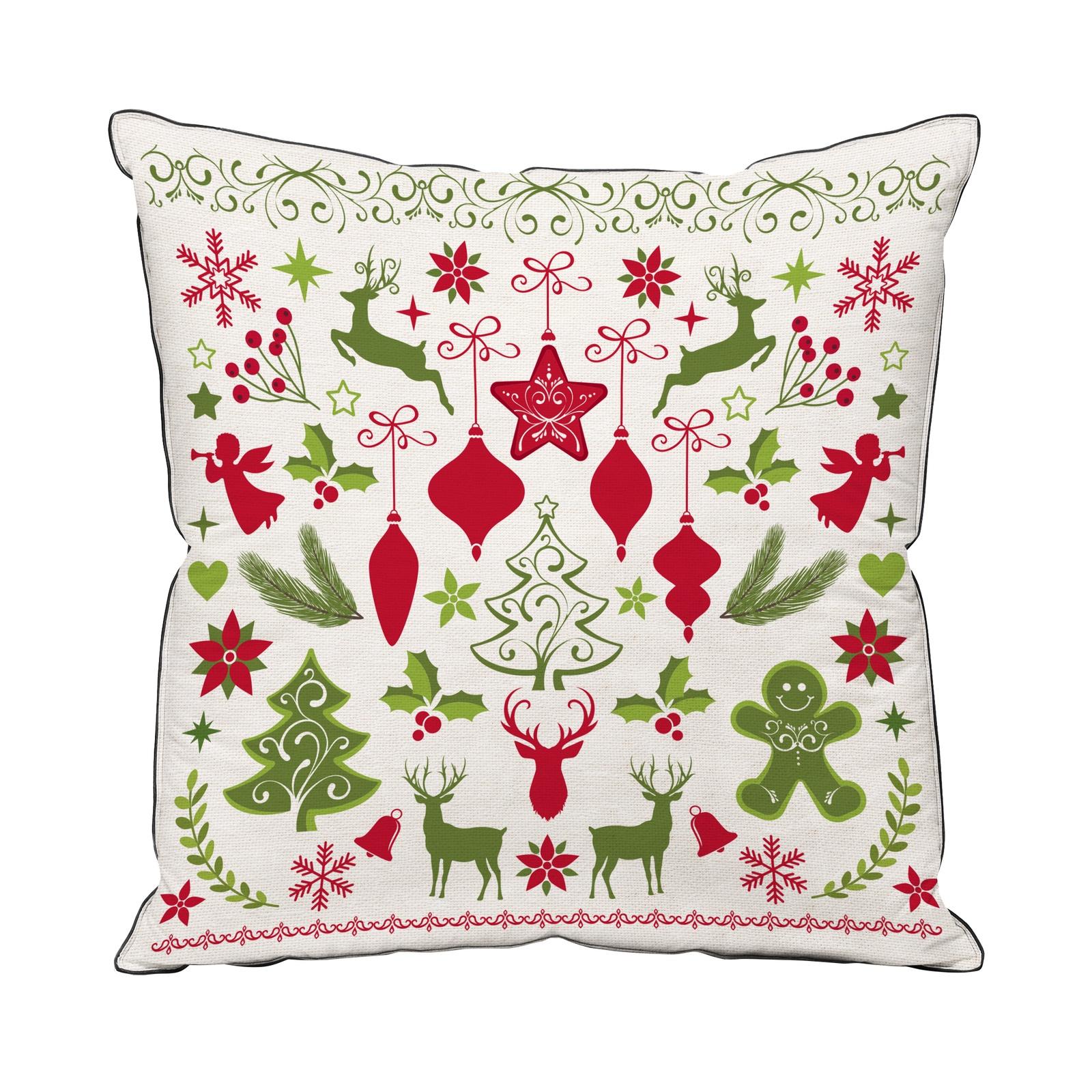 Подушка декоративная с фотопечатью Традиция Новый год, 4052, Праздник, 40x40 цена