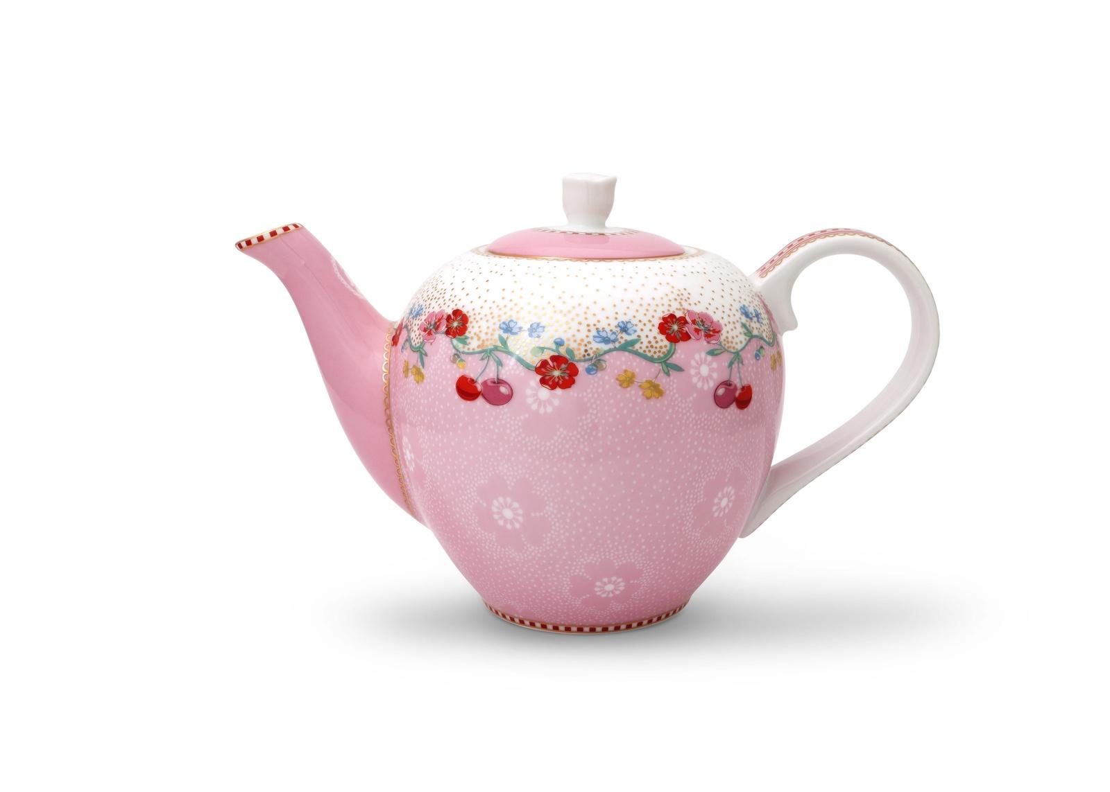 Чайник маленький Pip Studio Cherry Pink, 0,75л51.005.032- Объём: 750мл. Материал: Фарфор. Цвет: мультиколор. Размер: длина 8,5, ширина 8,5, высота 10,5 . Не использовать в микроволновой печи