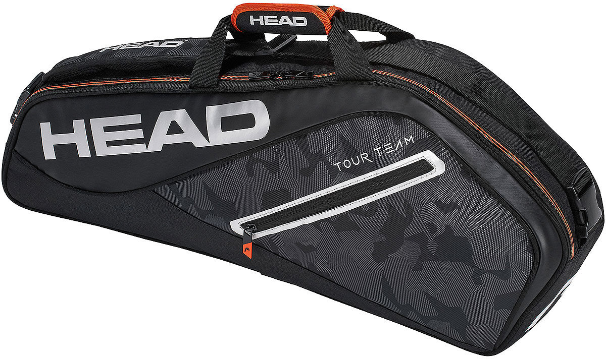 Сумка теннисная Head Tour Team 3R Pro, на 3 ракетки, цвет: черный, серебристый сумка для ракетки kawasaki kbb 8629 2014 kbb8629