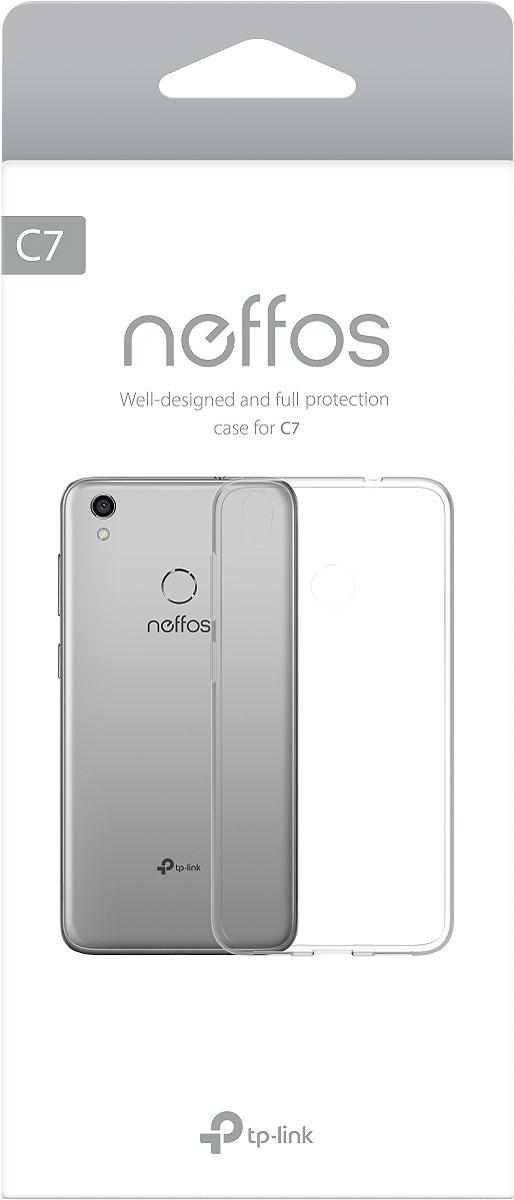 Чехол Neffos C7-PC-T, для смартфона Neffos C7, цвет: прозрачный