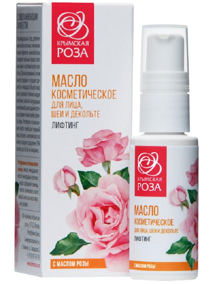 Крем для ухода за кожей Крымская роза Масло косметическое для лица, шеи и декольте  Лифтинг, 30 мл Крымская роза
