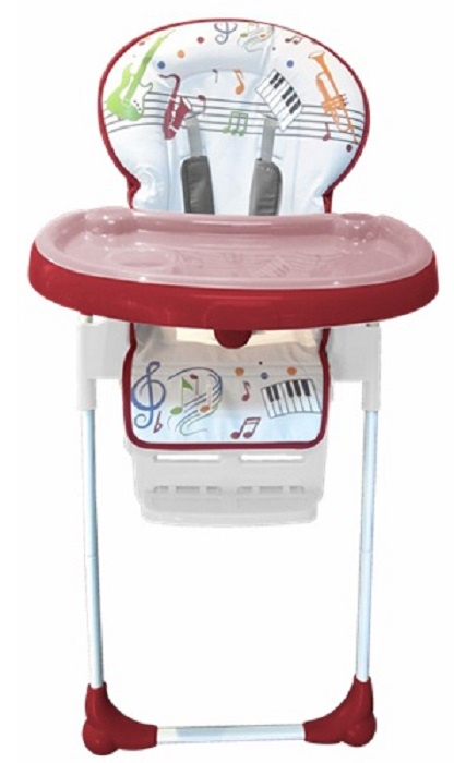 стульчики для кормления Стульчик для кормления Everflo Quartet, ПП100004229, красный, белый