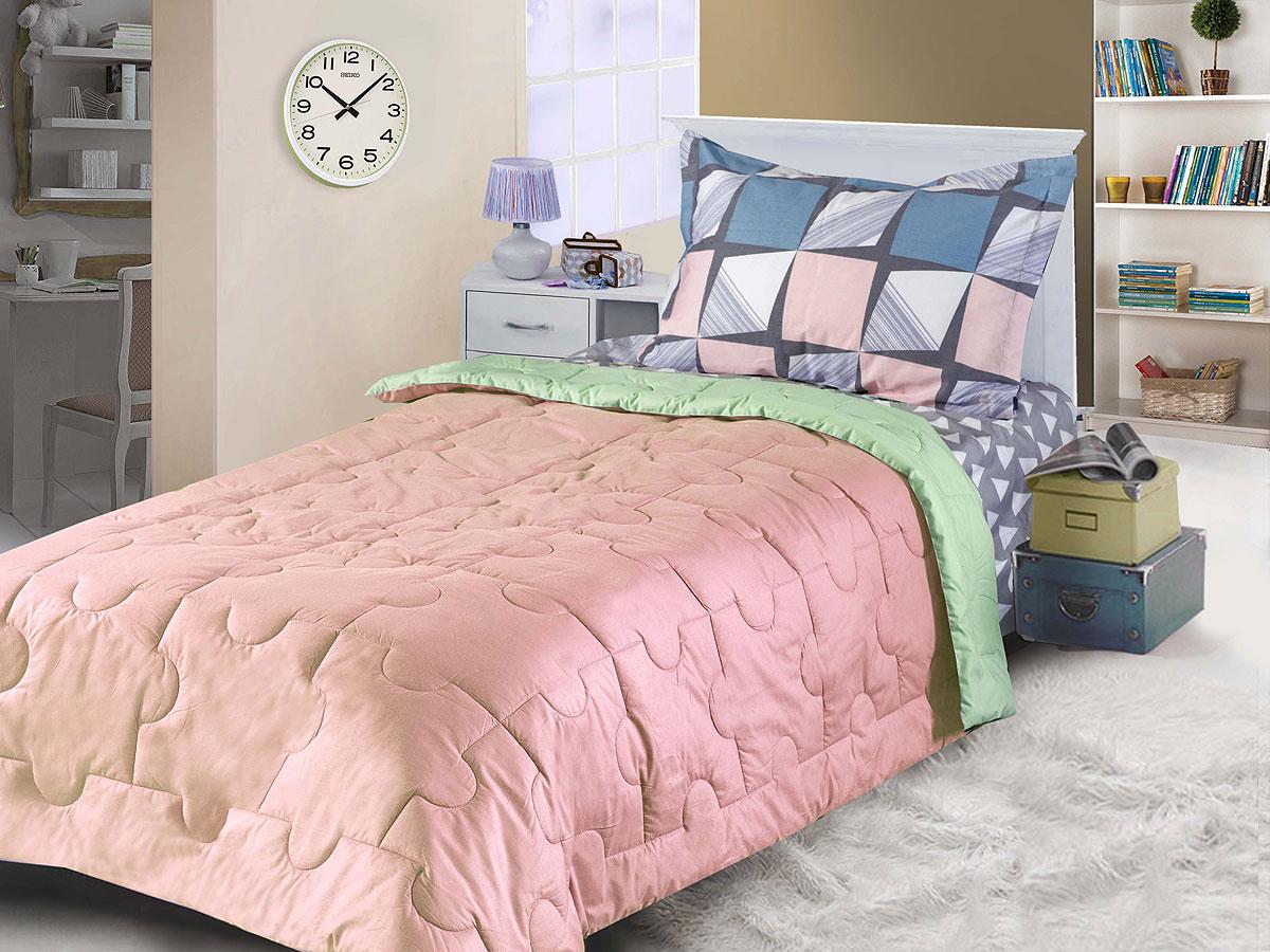 "Одеяло Primavelle покрывало ""Ummi. Пазл"" 140 х 200 см, кремовый, светло-зеленый"