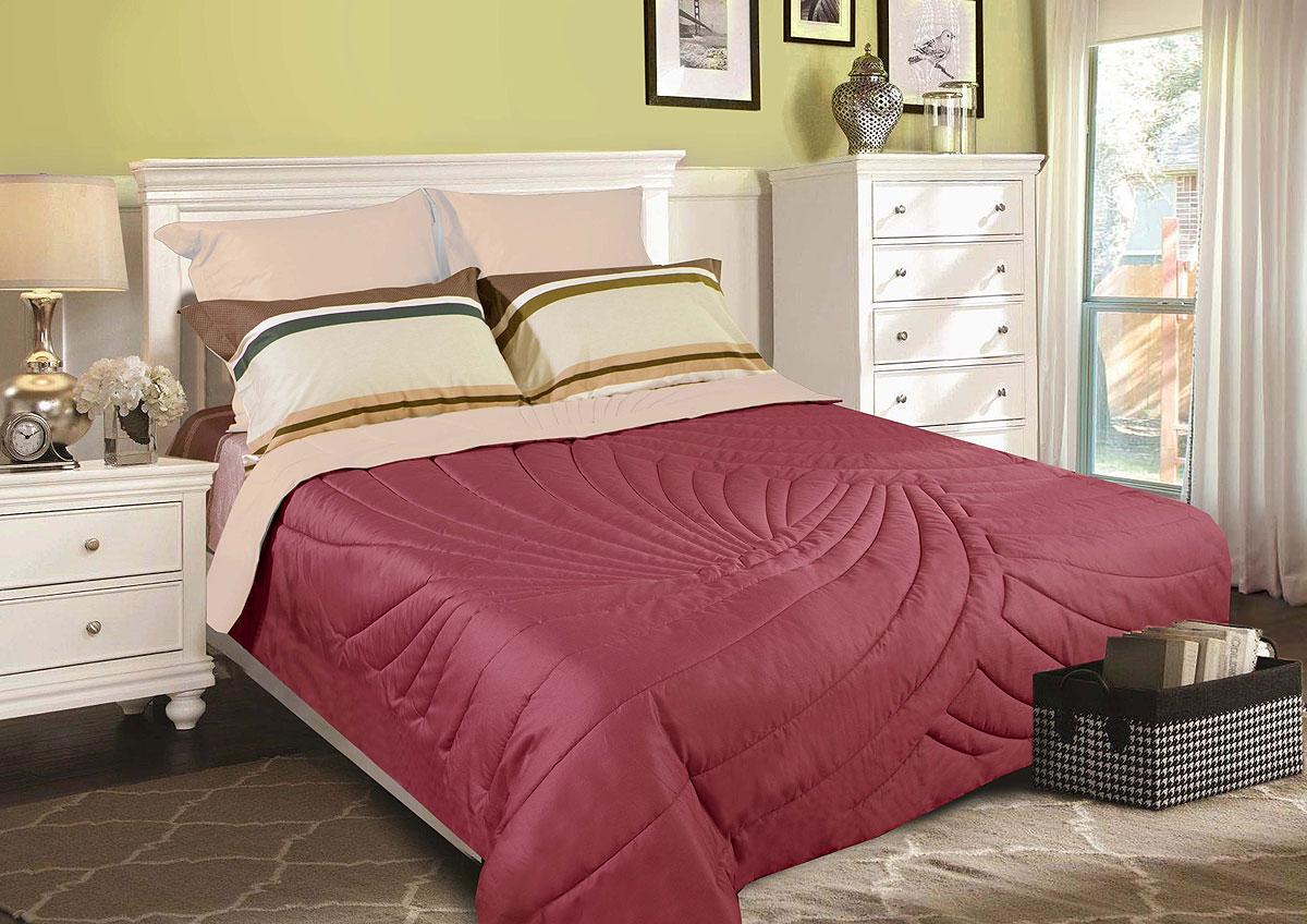 "Одеяло Primavelle покрывало ""Duo. Тропики"" 180 х 200 см, светло-коричневый, бордовый"