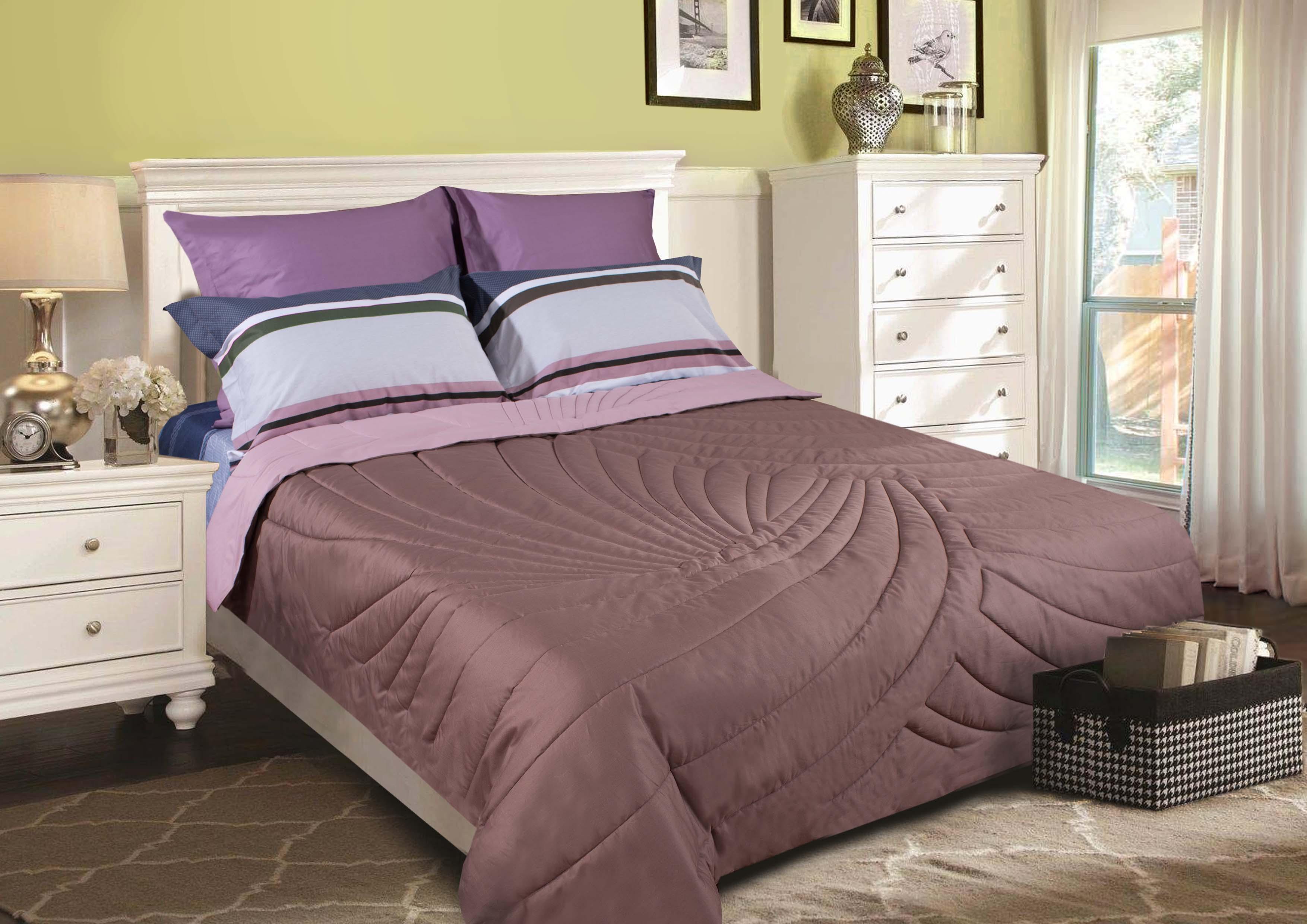 """Одеяло Primavelle покрывало """"Duo. Тропики"""" 230 х 250 см, сиреневый, шоколадный"""