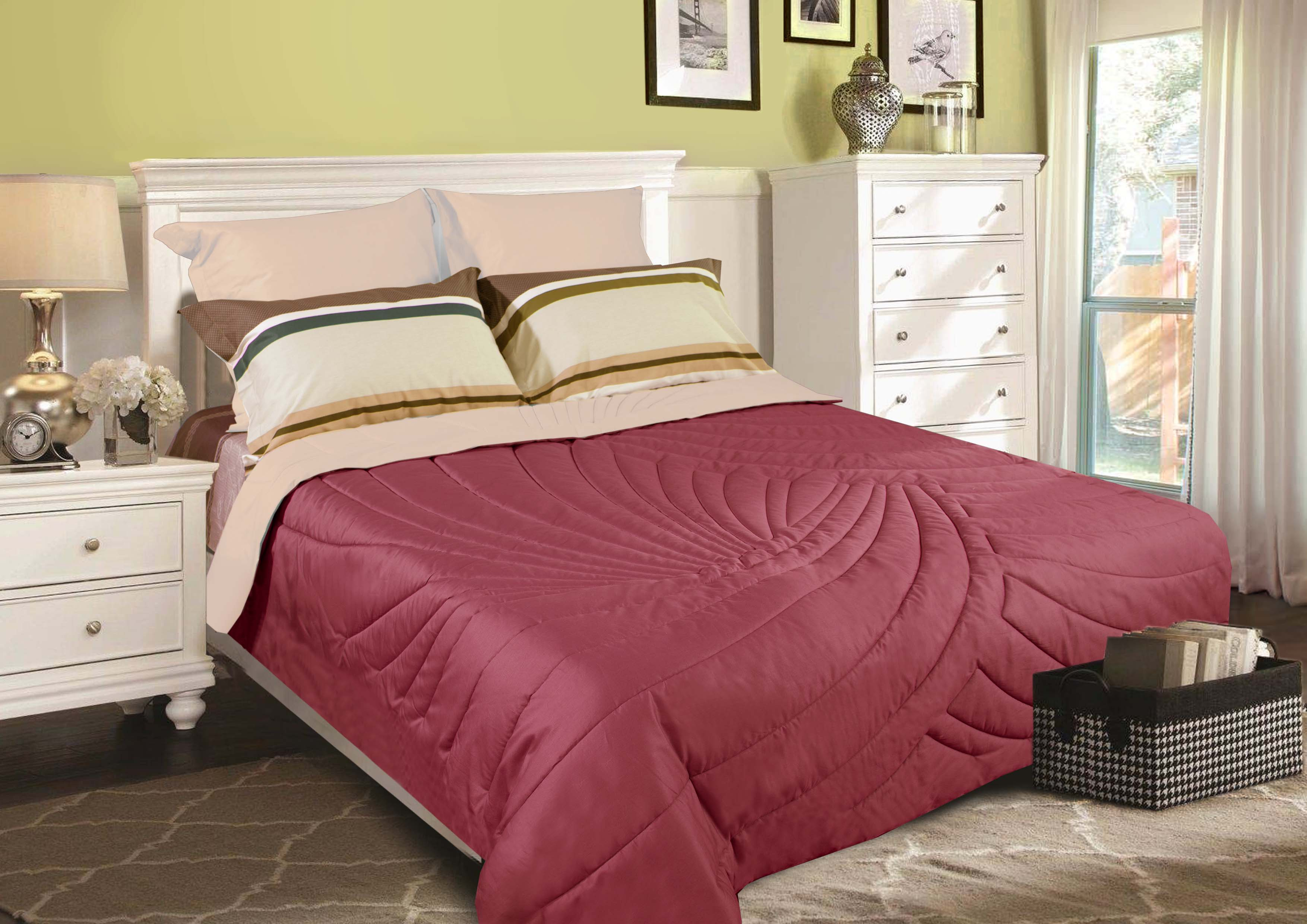 "Одеяло Primavelle покрывало ""Duo. Тропики"" 230 х 250 см, бордовый, светло-коричневый"
