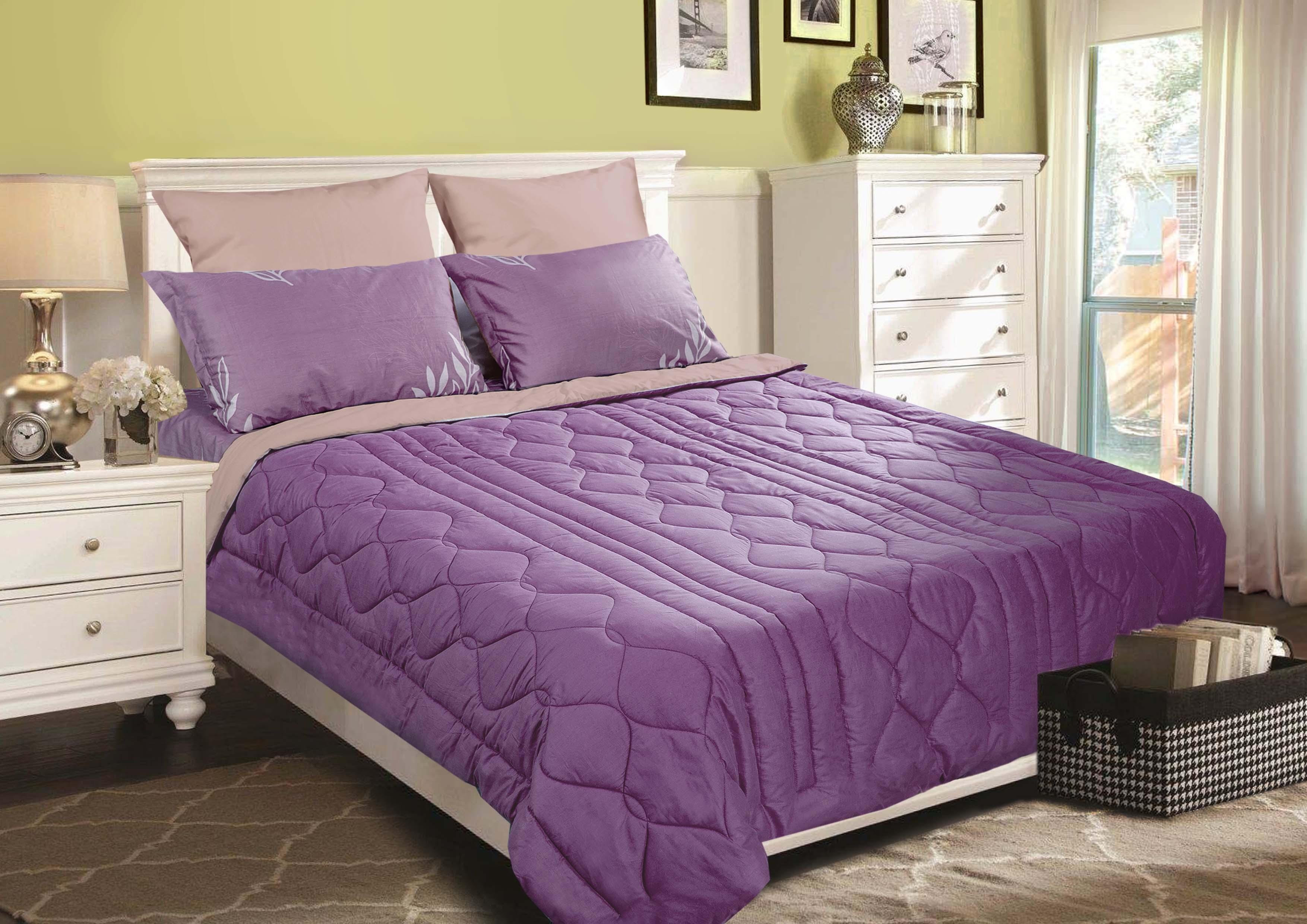 """Одеяло Primavelle покрывало """"Duo. Классика"""" 230 х 250 см, светло-коричневый, сиреневый"""
