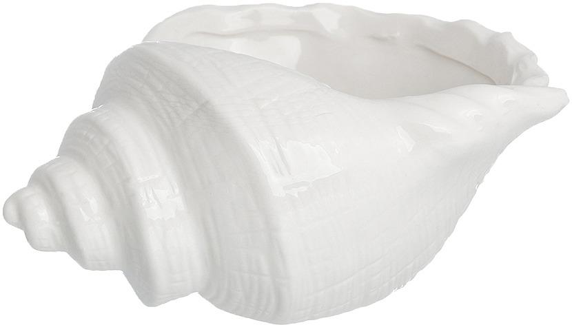 Конфетница Elan Gallery Ракушка, цвет: белый, 450 мл конфетница lefard голден 18х10 5х14см на ножке стекло