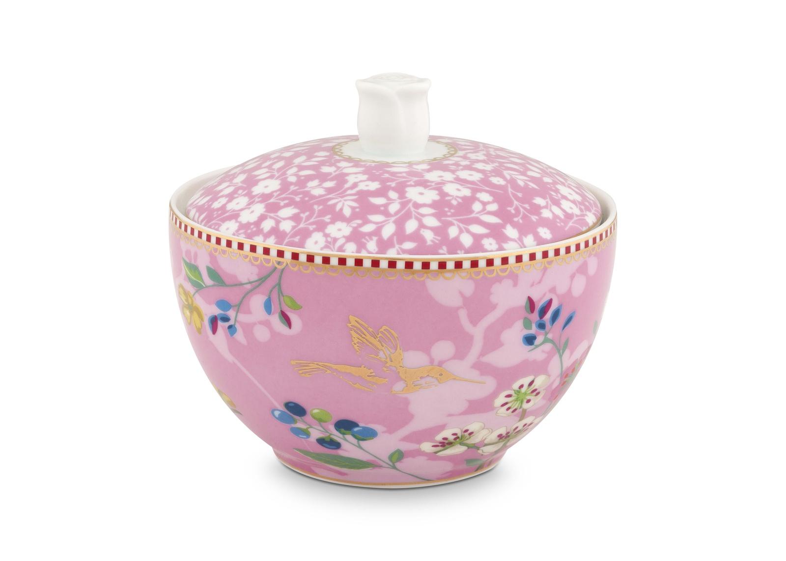 Сахарница PiP Studio Floral, цвет: розовый, 300 мл mikasa сахарница floral silhouette