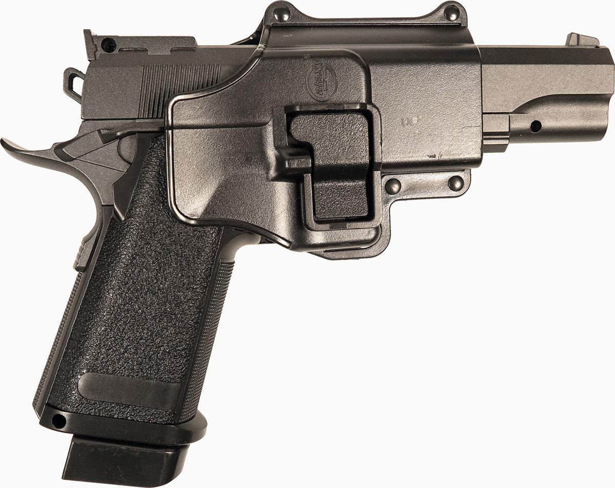 Пистолет софтэйр Galaxy G.6+, с кобурой, пружинный, цвет: черный, 6 мм цена и фото