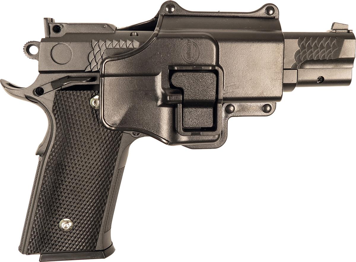 Пистолет софтэйр Galaxy G.20+, с кобурой, пружинный, цвет: черный, 6 мм цена и фото