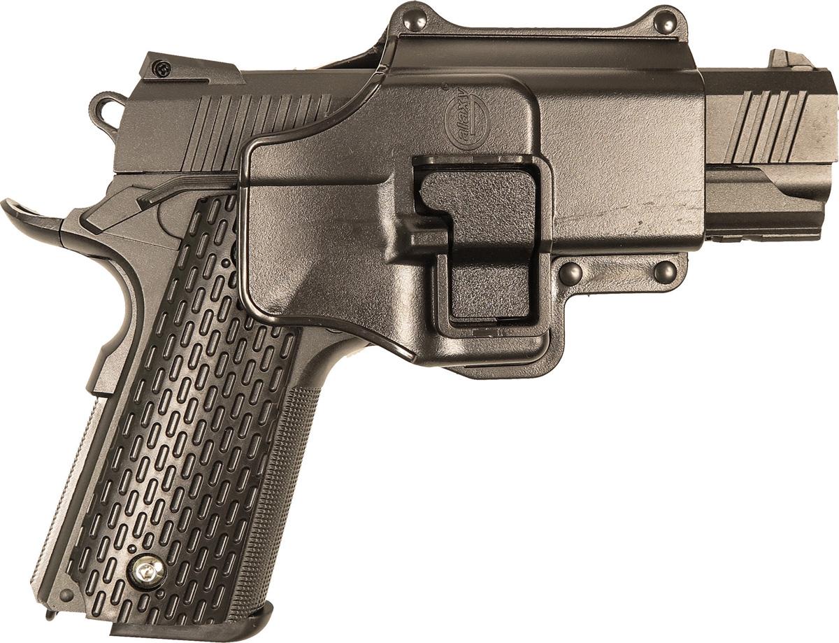 Пистолет софтэйр Galaxy G.25+, с кобурой, пружинный, цвет: черный, 6 мм цена и фото