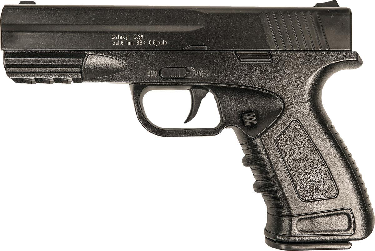 Пистолет софтэйр Galaxy G.39, пружинный, цвет: черный, 6 мм цена и фото