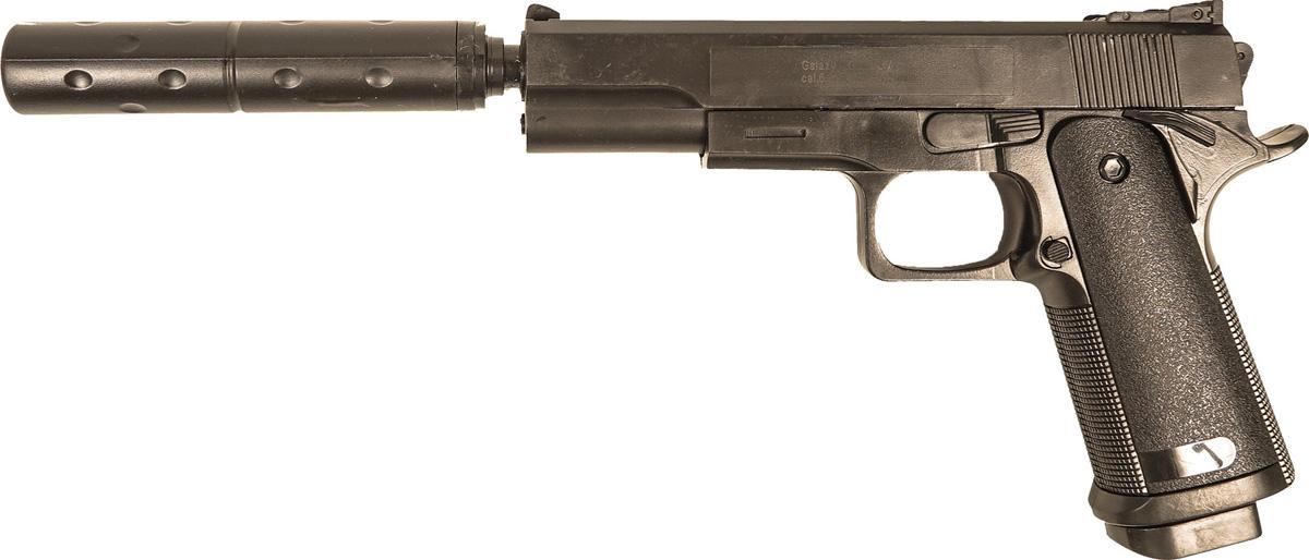 Пистолет софтэйр Galaxy G.053B, пружинный, цвет: черный, 6 мм цена и фото