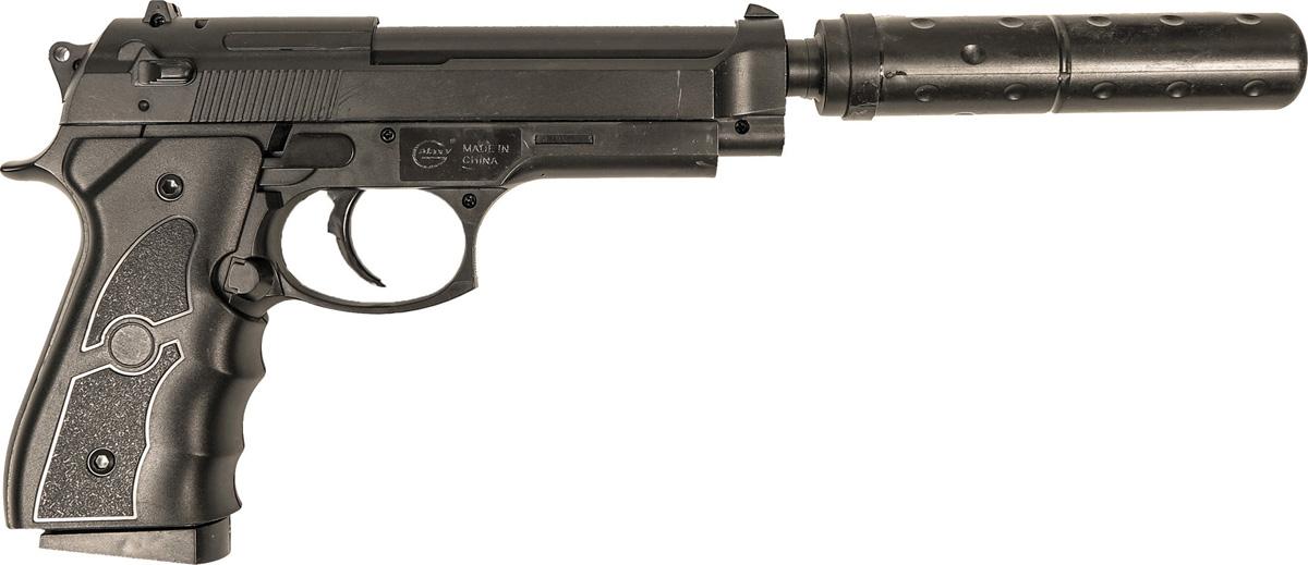 Пистолет софтэйр Galaxy G.052A, пружинный, цвет: черный, 6 мм цена и фото