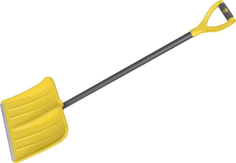 Лопата снеговая Cycle Expert Skif, цвет: желтый, длина 135 см лопата снеговая finland 1023 ч широкая с черенком