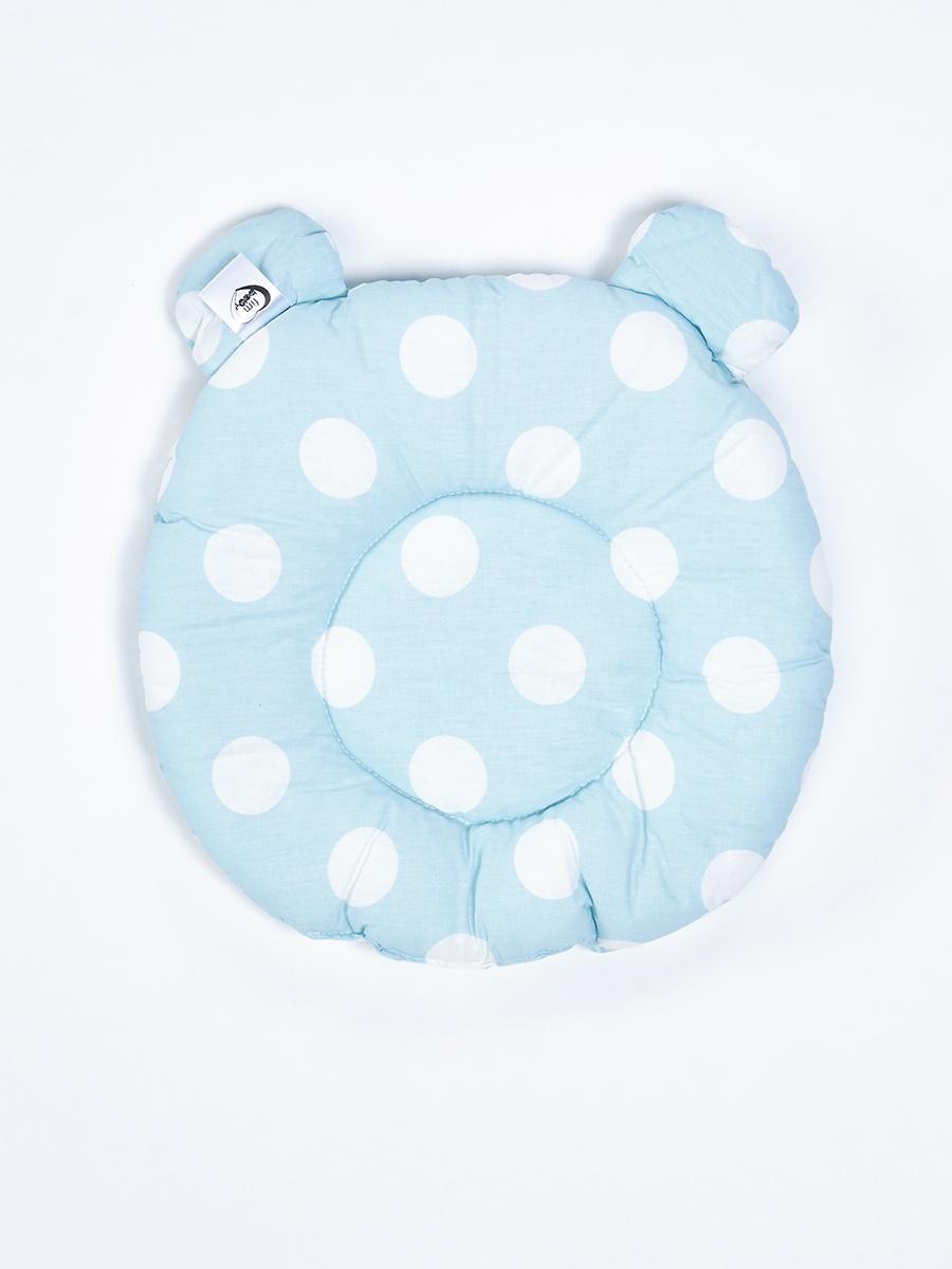 Декоративная подушка FIM Горох большой, 35*40 см, голубой