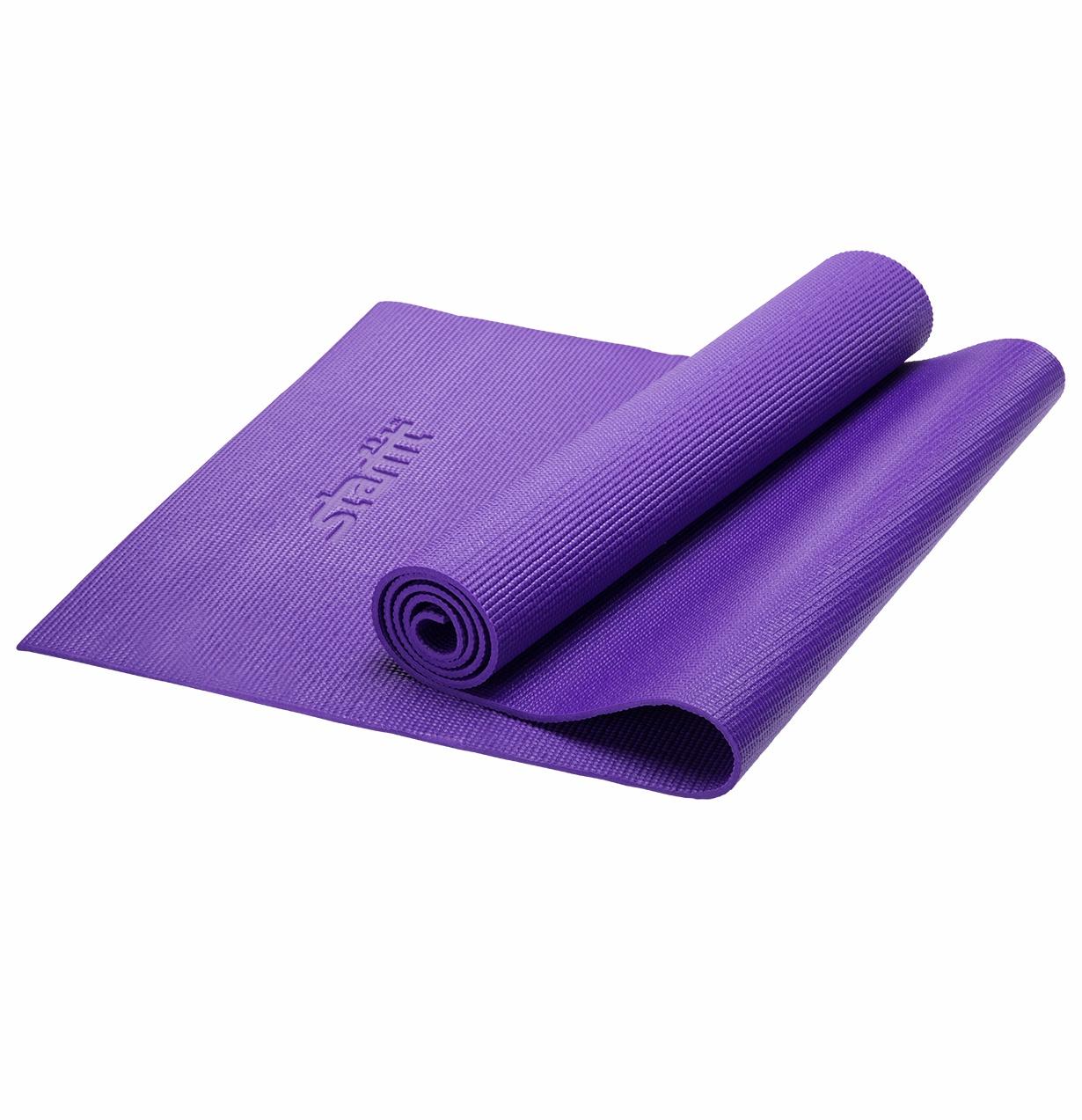 Коврик для йоги Starfit FM-101, 173x61 см, фиолетовый цена