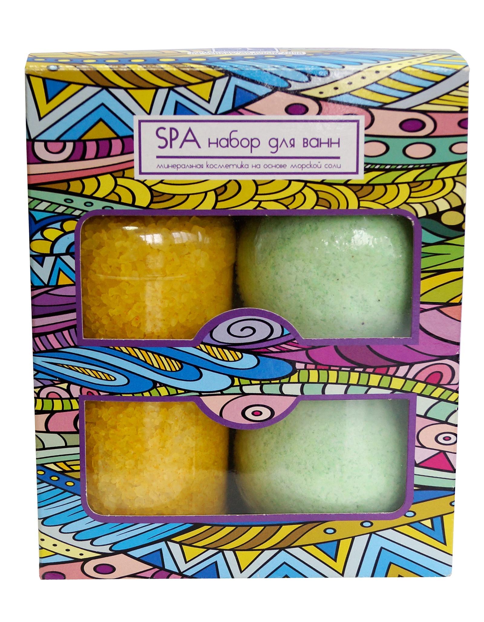 Соль морская Spa by Lara для ванн Жасмин, 300 г + Соль шипучая для ванн Spa by Lara с растительными экстрактами Зеленый чай, 140 г х 2 шт соль mavala для смягчающих ножных ванн 300 г