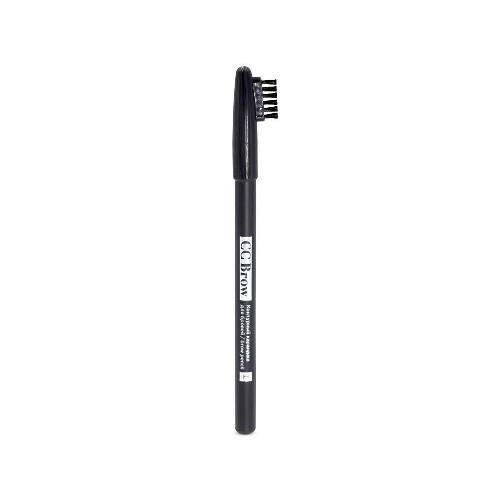 Карандаш для бровей СС Brow brow pencil, цвет 02 серо-коричневый eylure eylure brow pencil 20 mid brown карандаш для бровей коричневый 1 2 г