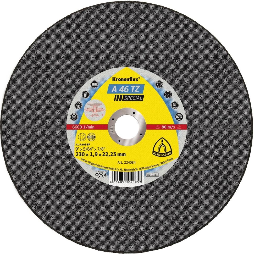 Круг отрезной Klingspor Kronenflex® Special A 46 TZ, Абразив круг отрезной луга абразив 180x2 5x32 с30 упак 25 шт