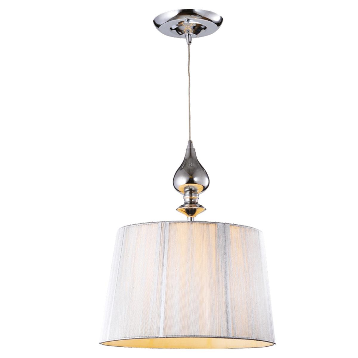 Подвесной светильник Collezioni Ely Silver, E27, 1x60Вт Вт цены онлайн