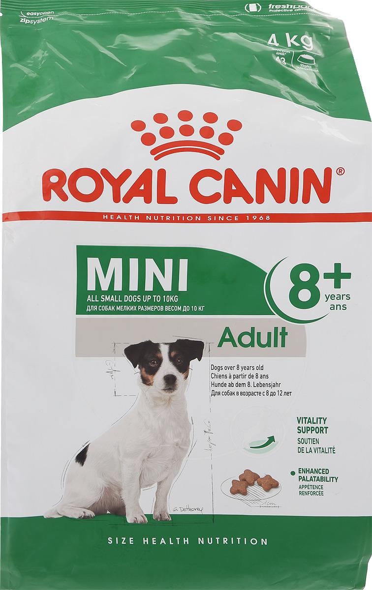 "Корм сухой Royal Canin ""Mini Adult 8+"", для собак весом до 10 кг старше 8 лет, 4 кг"