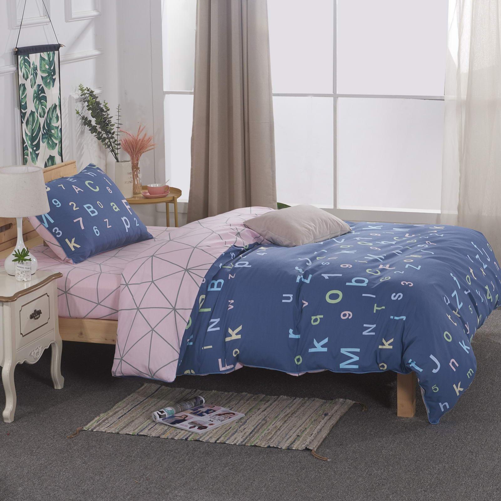 """Комплект постельного белья детский Sofi de Marko """"Абвгдейка"""", 1,5 спальный, цвет: синий"""