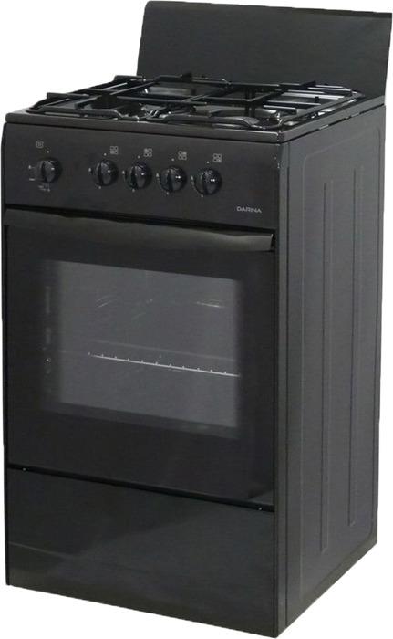Плита газовая Darina S GM441 001 At, черный газовая плита дарина s gm441 001 w