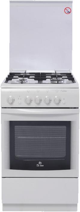 Плита газовая De Luxe 506040.04г(кр) ЧР, белый цена и фото