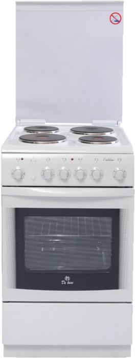 Плита электрическая De Luxe 506004.03э(кр), цвет: белый