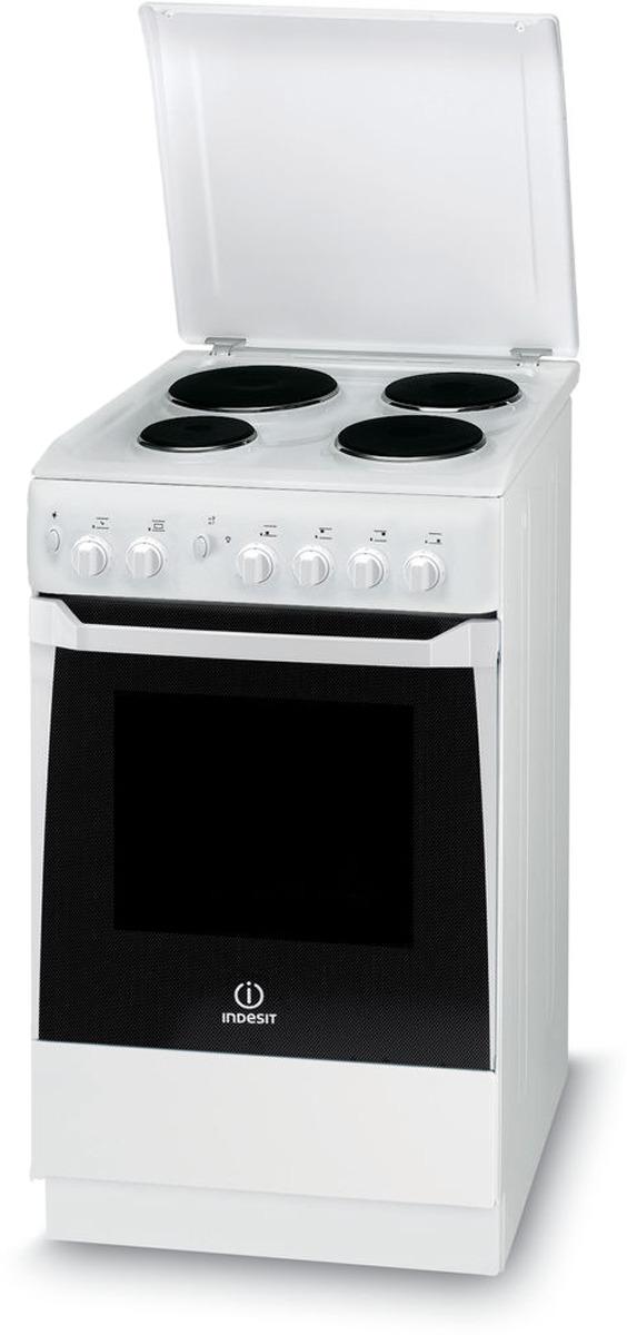 Плита электрическая Indesit KN1E17(W)/RU, белый