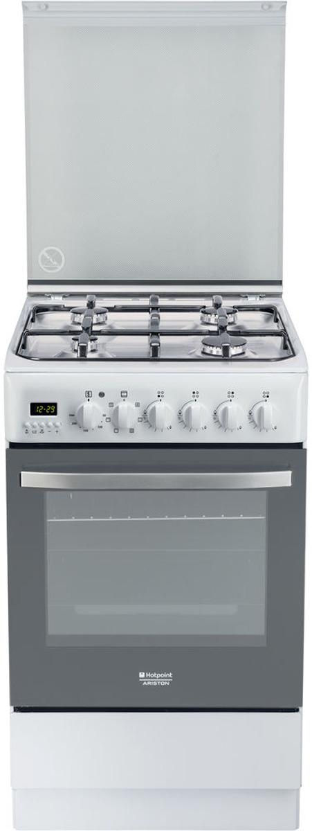 Плита комбинированная Hotpoint-Ariston H5G56F (W) RU, белый