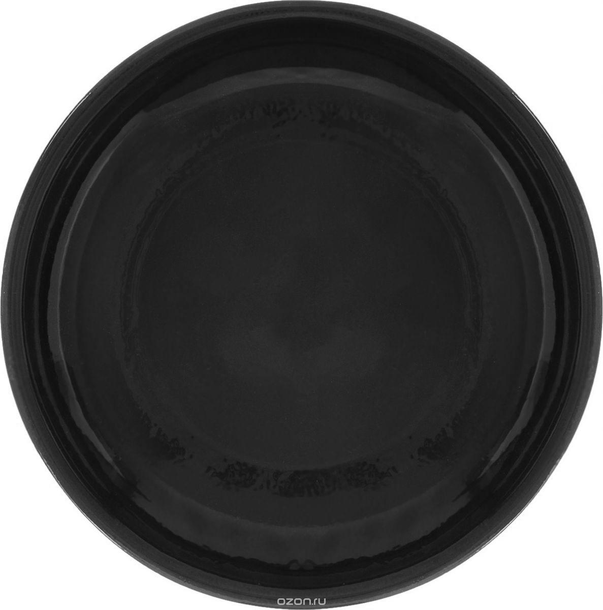 """Миска Борисовская керамика """"Радуга"""", РАД00000458, черный, диаметр 18 см"""