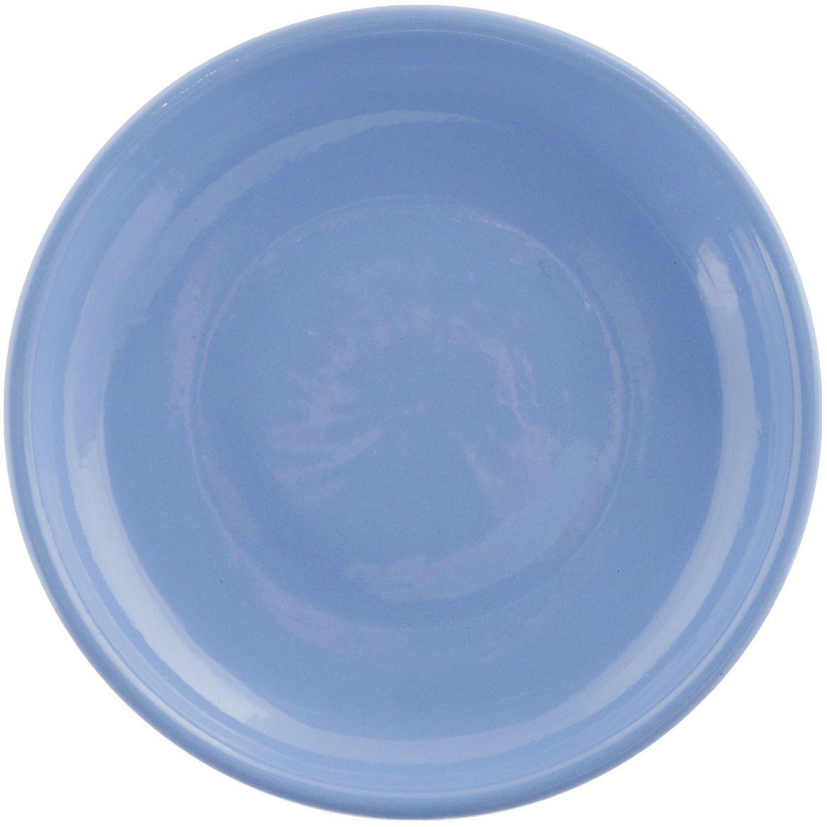 Тарелка Борисовская керамика Радуга, РАД14458120, голубой, диаметр 23 см