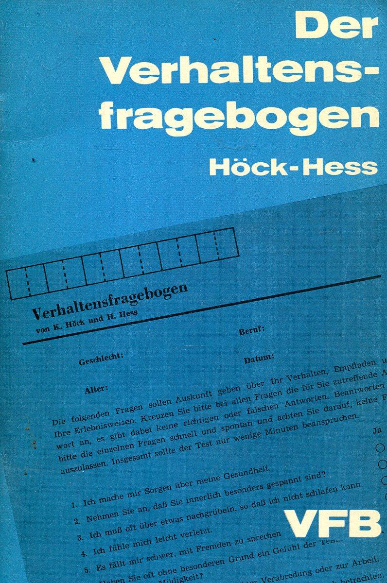 Hock-Hess Der Verhaltensfragebogen david hess gamble