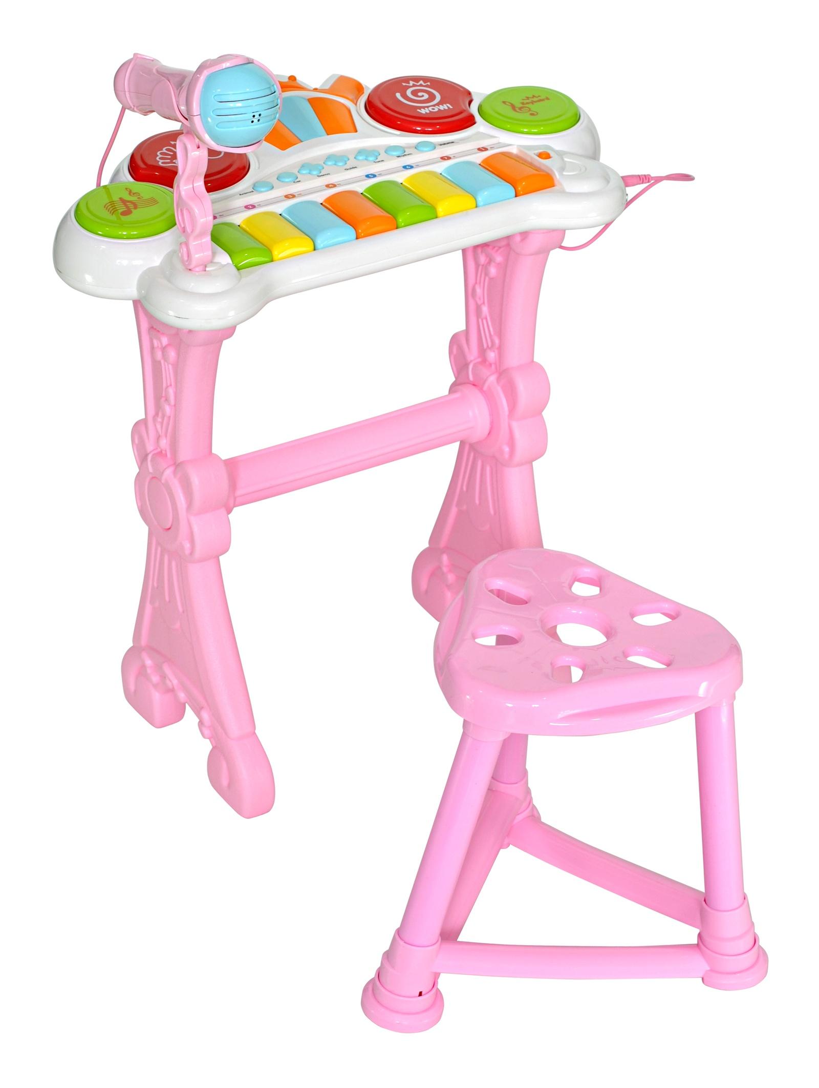 Музыкальный детский центр Everflo Оркестр, HS0356832, розовый ретро музыкальный центр классика