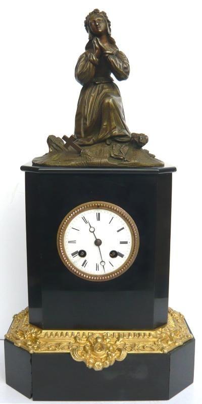 Часы Cogery et Cavaroc эпохи Карла Х (бронза, мрамор). Франция, 1824-1830 гг купить часы бронза