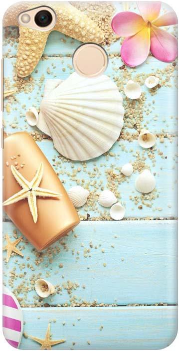 Силиконовый ультратонкий чехол-накладка Gosso Cases Пляжный натюрморт, для Xiaomi Redmi 4X телефон