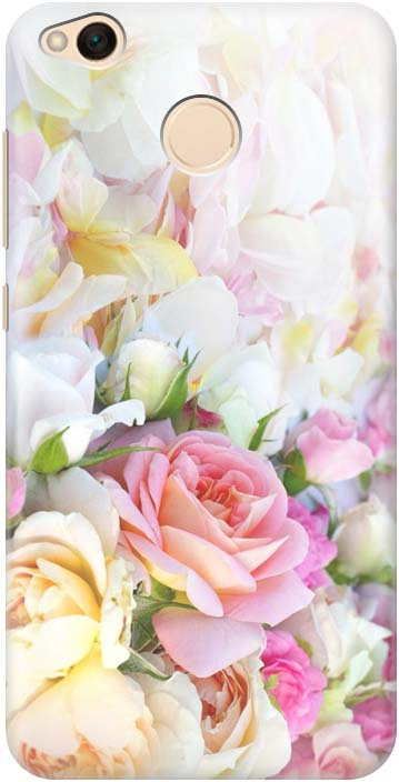 Чехол-накладка Gosso Cases Нежные розы для Xiaomi Redmi 4X, 180211, разноцветный Нежные розы телефон