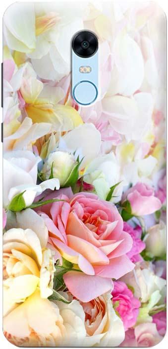Чехол-накладка GOSSO CASES Нежные розы, 180200, для Xiaomi Redmi 5 Plus, ультратонкий, силиконовый телефон