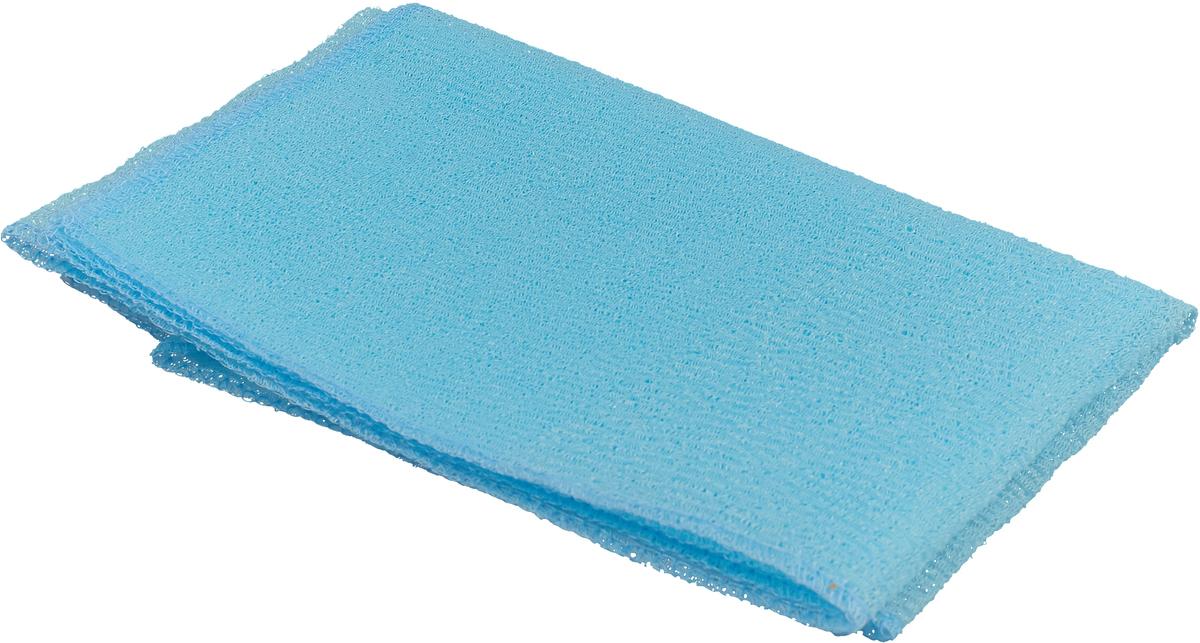 Мочалка Eva Fitness AktiveTex Wave, 90 х 30 см, цвет: голубой цена